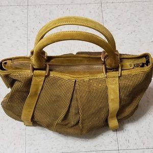 Burberry Mustard Suede Brass Studded Prorsum Bag